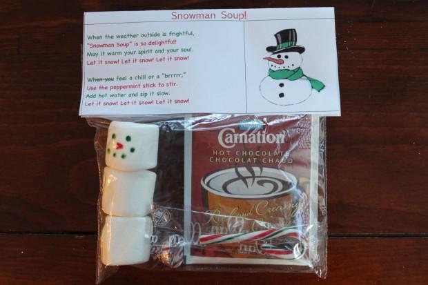 Snowman Soup and Teacher Gift