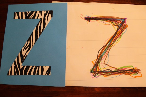 Letter Z and Rainbow Letters