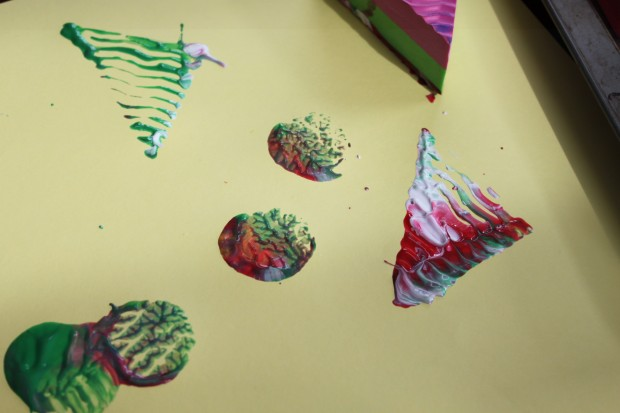 Stamp Art using Textured, Foam Blocks