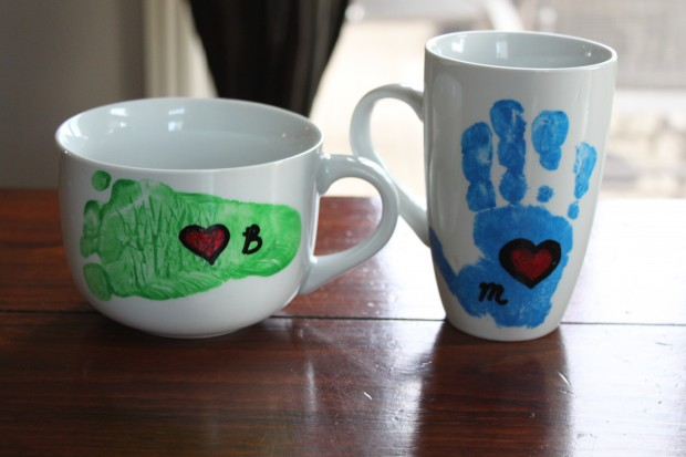 Father's Day Handprint/ Footprint Mugs