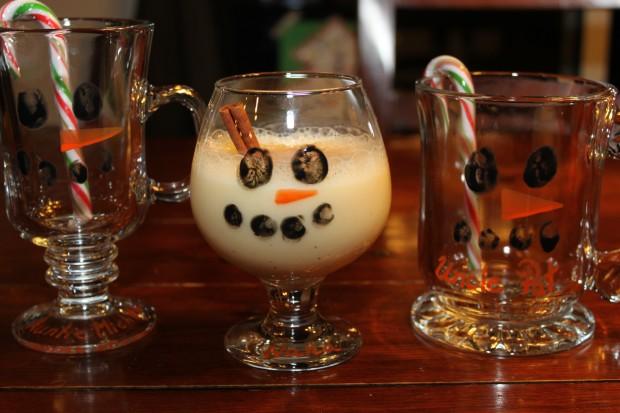 Fingerprint Snowman Glasses