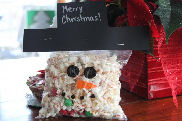 Snowman Christmas Popcorn (Class Gift)