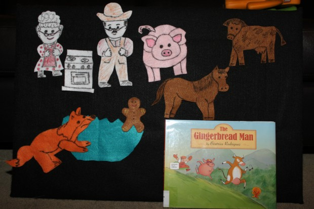 The Gingerbread Man: Felt Board Characters