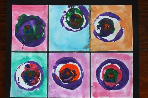 Kandinsky Inspired Circle Art
