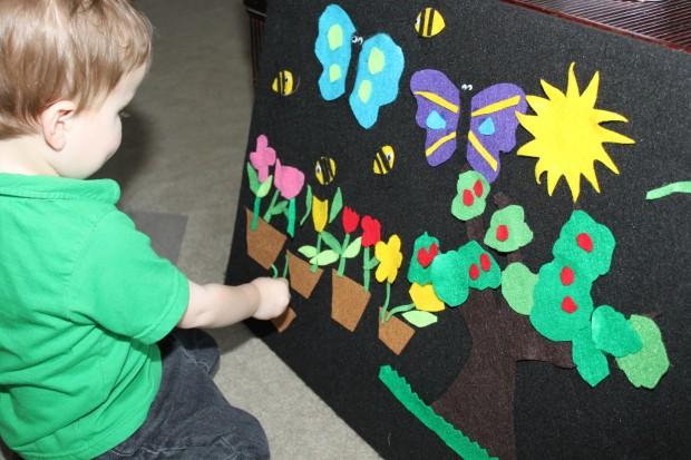 Spring Themed Felt Board