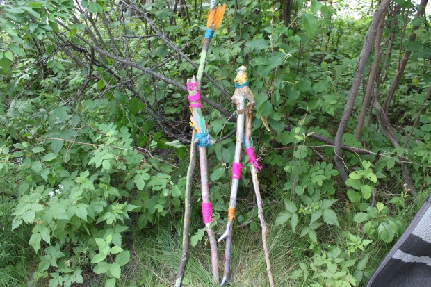 Decorating Walking Sticks