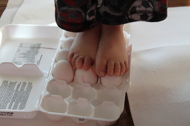 Standing on Eggs Experiment