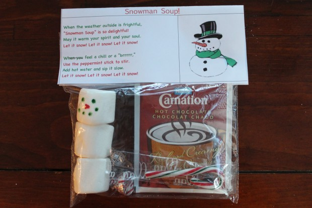 snowman soup and teacher gift