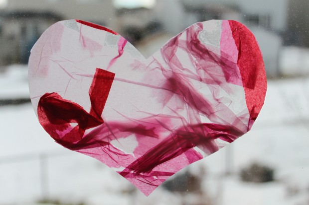 Stained Glass (Tissue Paper) Hearts