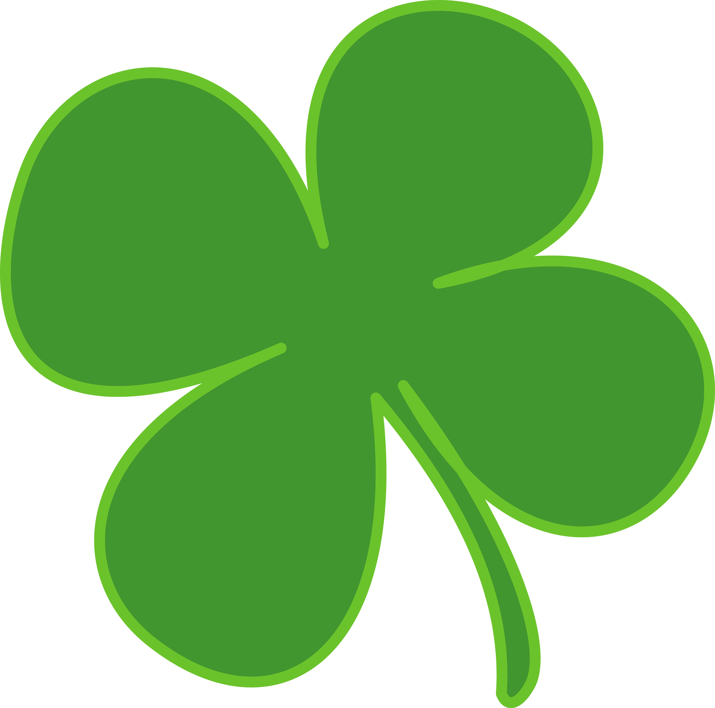 Shamrock Paintings on Chevron Circle Clip Art Free