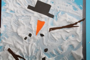 melting snowman painting