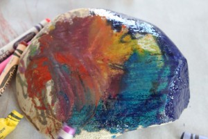 Hot Rock Melted Crayon Art 10