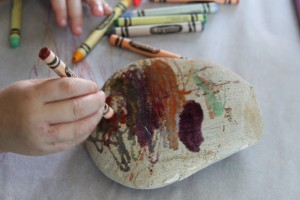 Hot Rock Melted Crayon Art 4