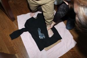 Ghost Footprint Shirts 3