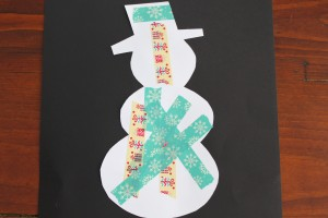 Washi Tape Christmas Silhouettes 11