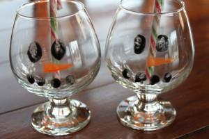 Fingerprint Snowman Glasses. 1