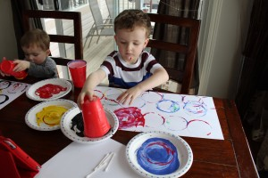 Olympic Rings Painting 1