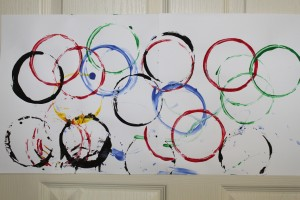 Olympic Rings Painting 4