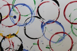 Olympic Rings Painting 5