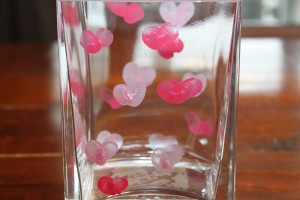 Thumbprint Heart Vase