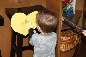 Valentine Colour Words Game 3