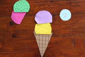 Ice Cream Scoop Math Game 18