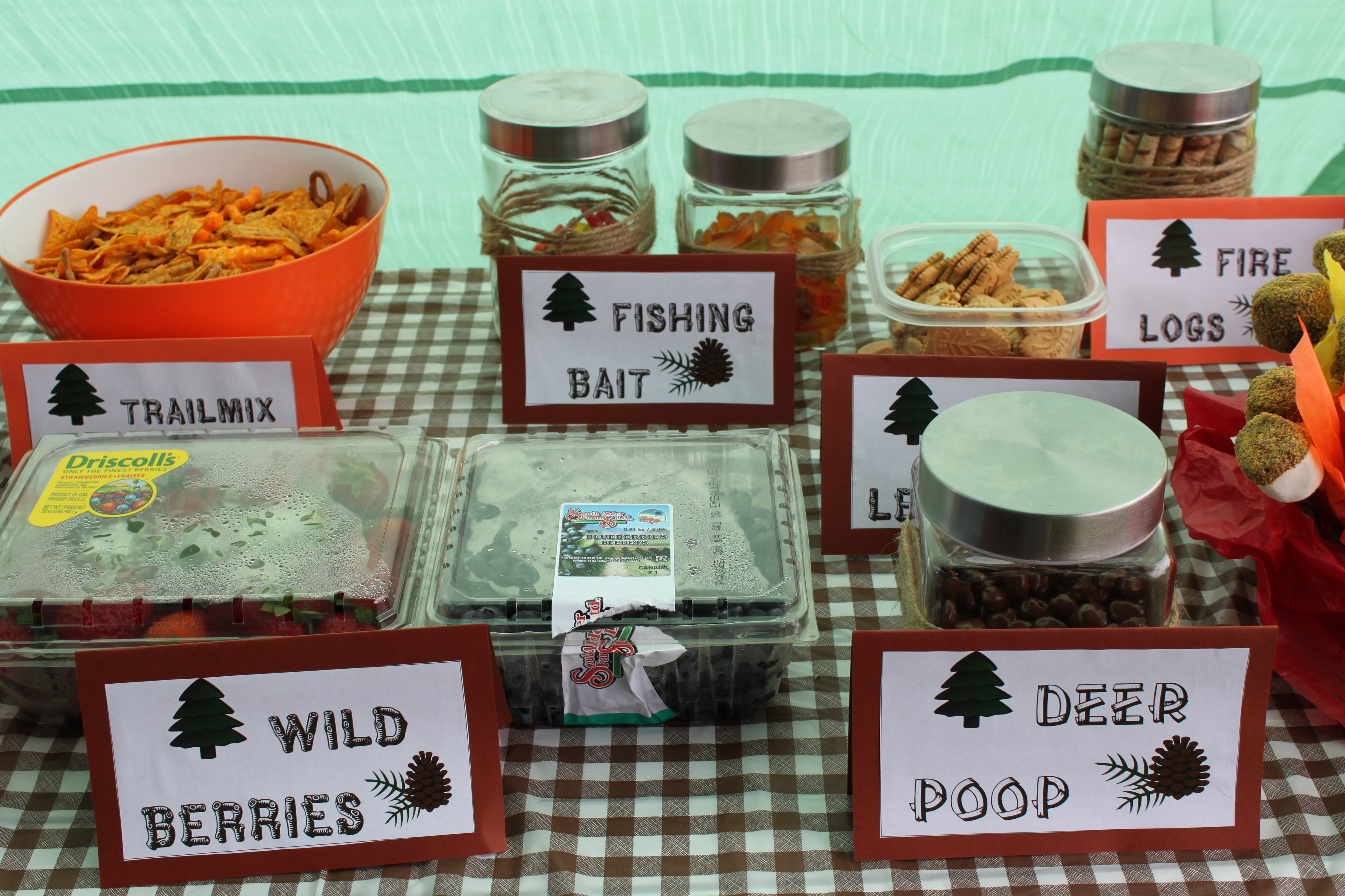 Camping Themed Party Food