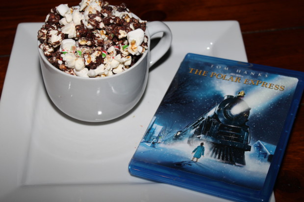 Polar Express Hot Chocolate Popcorn