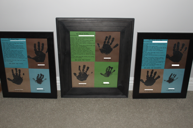 Father's Day Handprints Keepsake